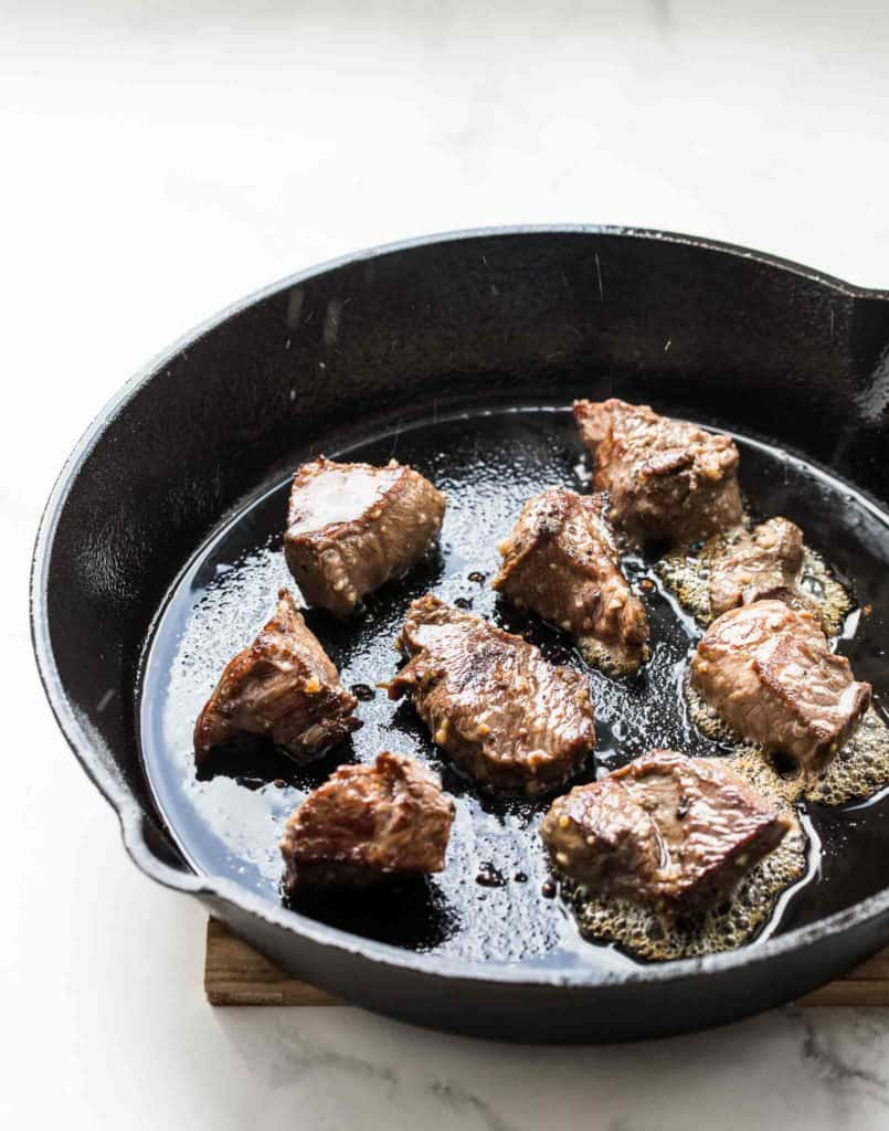 beef seared