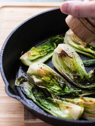 pan fried bok choy