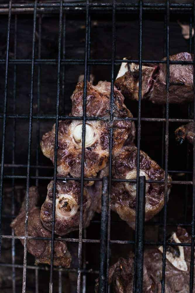 grilled ox-tail and beef shoulder