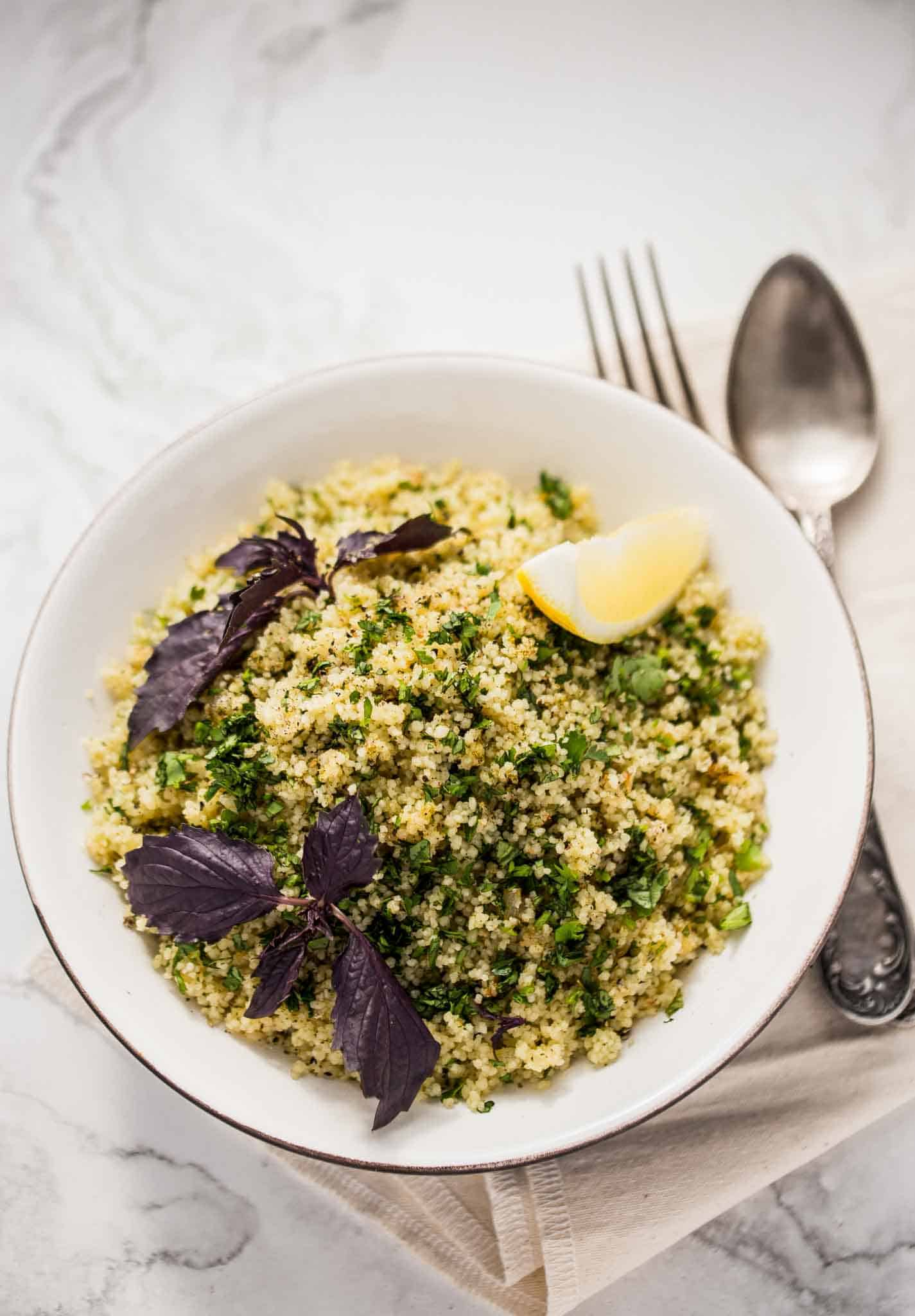 Perfectly cooked couscous can be a light snack by itself or a side dish for many other dishes like stews and curries. This incredibly easy couscous recipe takes less than 15 minutes to cook and one sure to bookmark as a favourite.