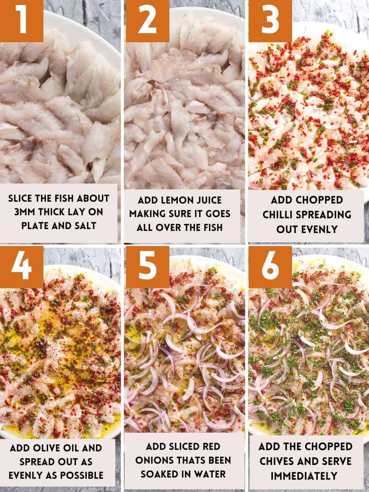 how to make sea bass crudo step by step