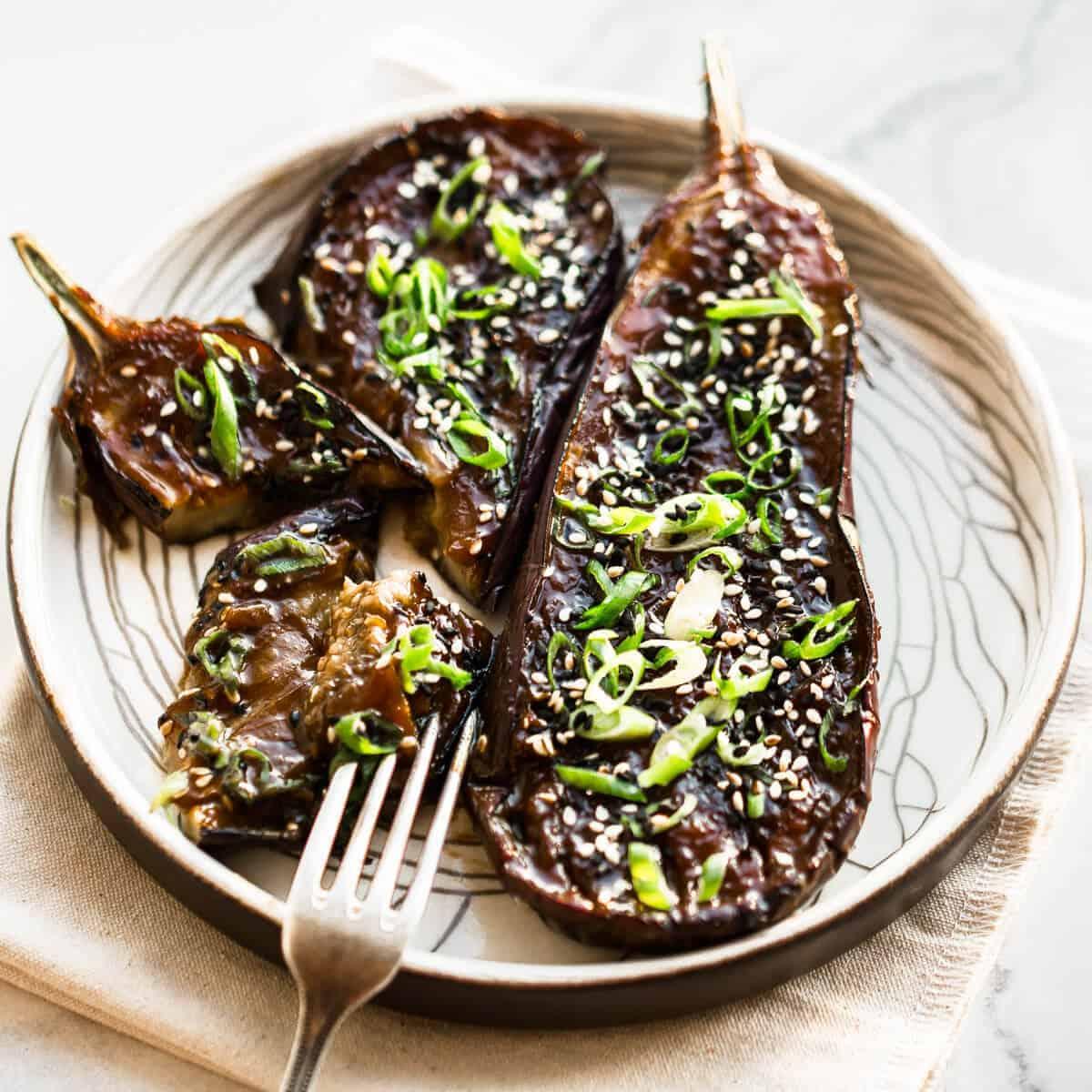nasu dengaku - miso baked eggplant
