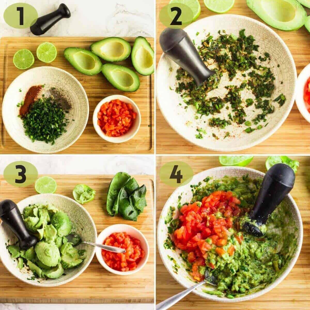 steps to make guacamole