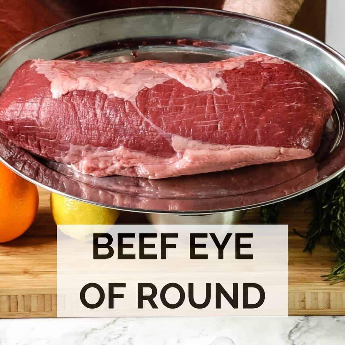 meat on silver platter