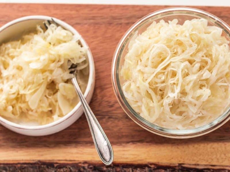 homemade sauerkraut fermented and ready to eat