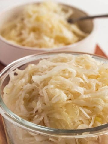 homemade sauerkraut fermented and ready to eat