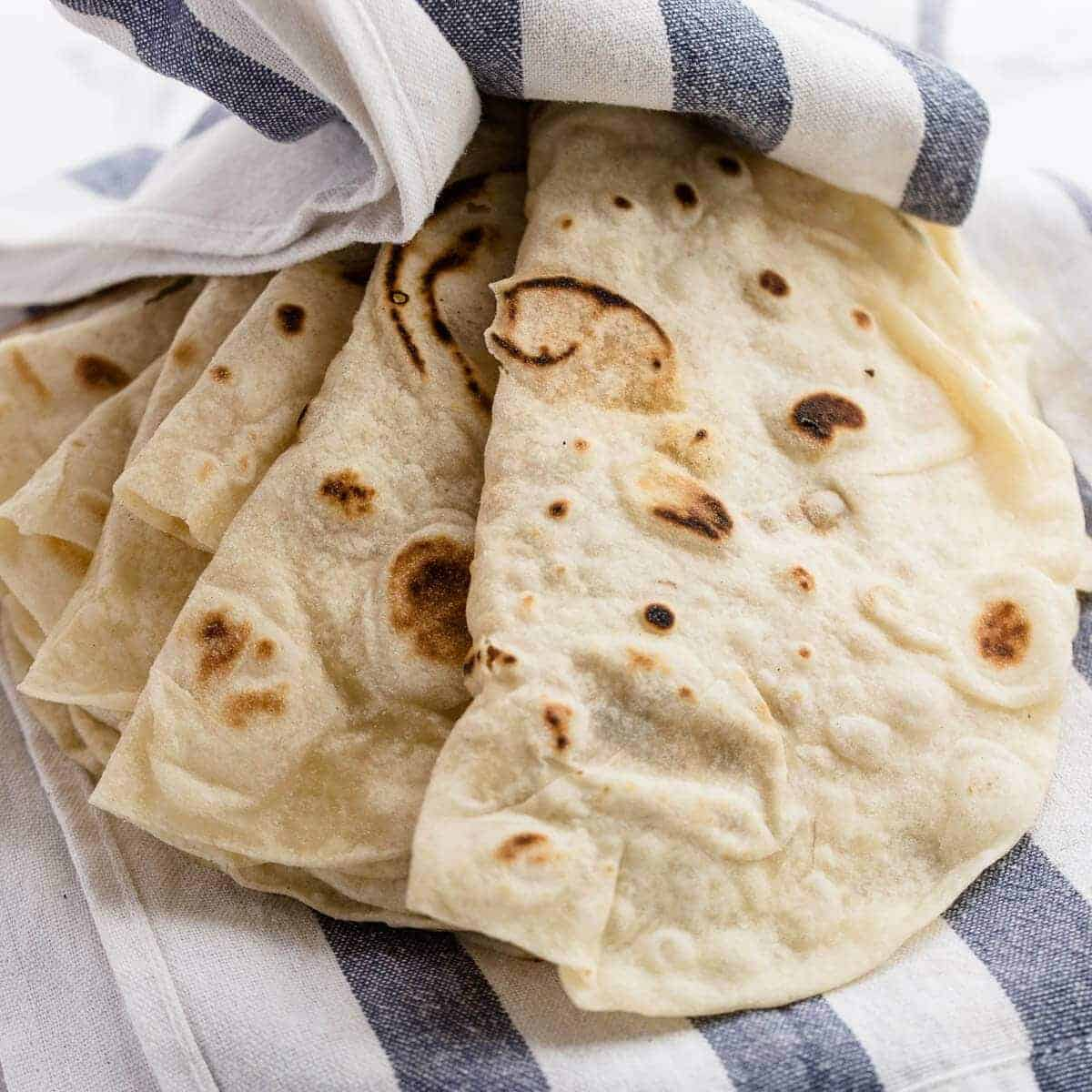 The Best Easy Homemade Flour Tortillas Recipe With Or Without Lard