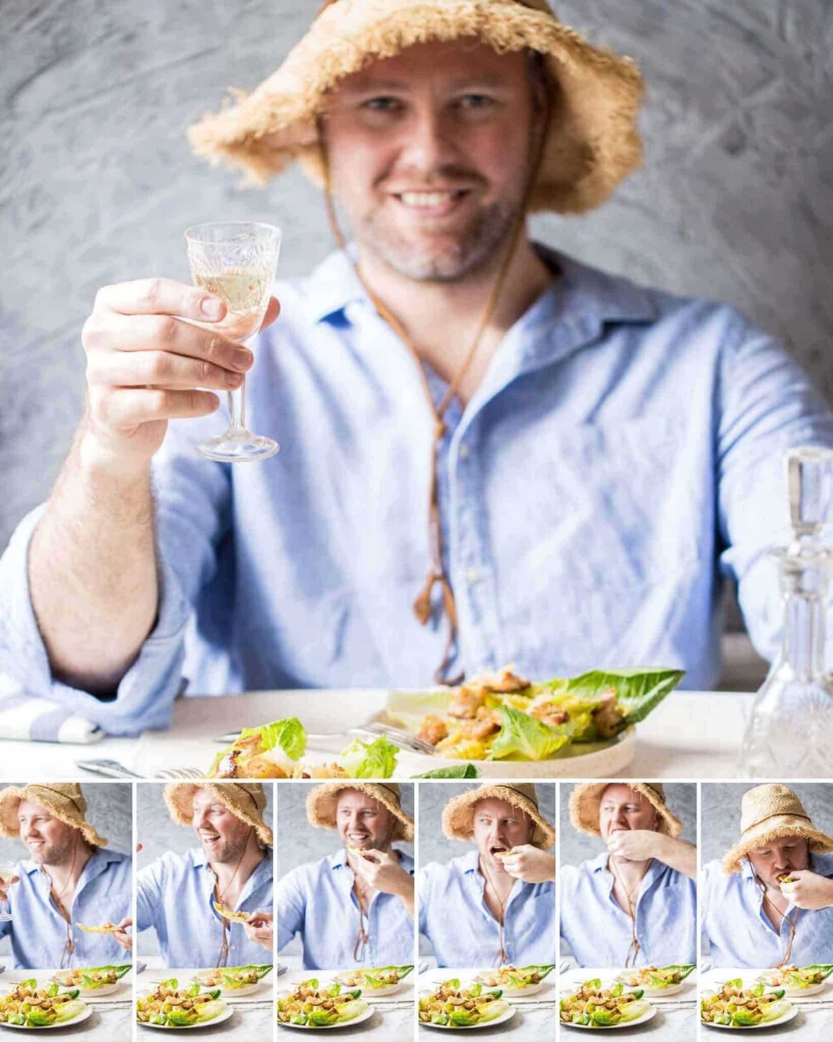 how to eat caesar salad properly