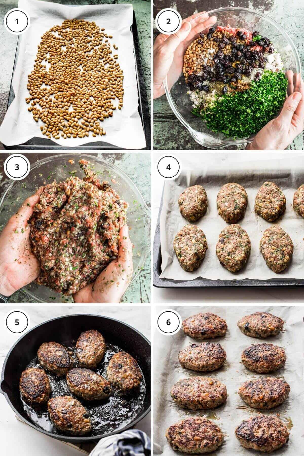 steps to making lamb koftas with yoghurt dressing