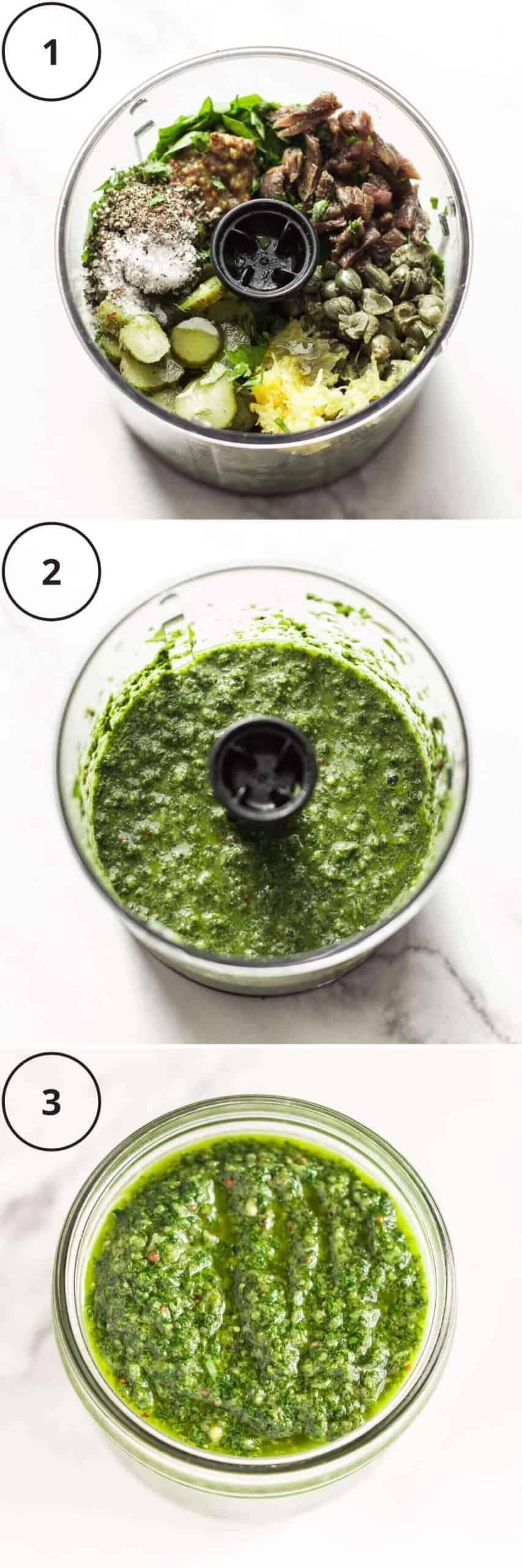 3 easy steps to make salsa verde