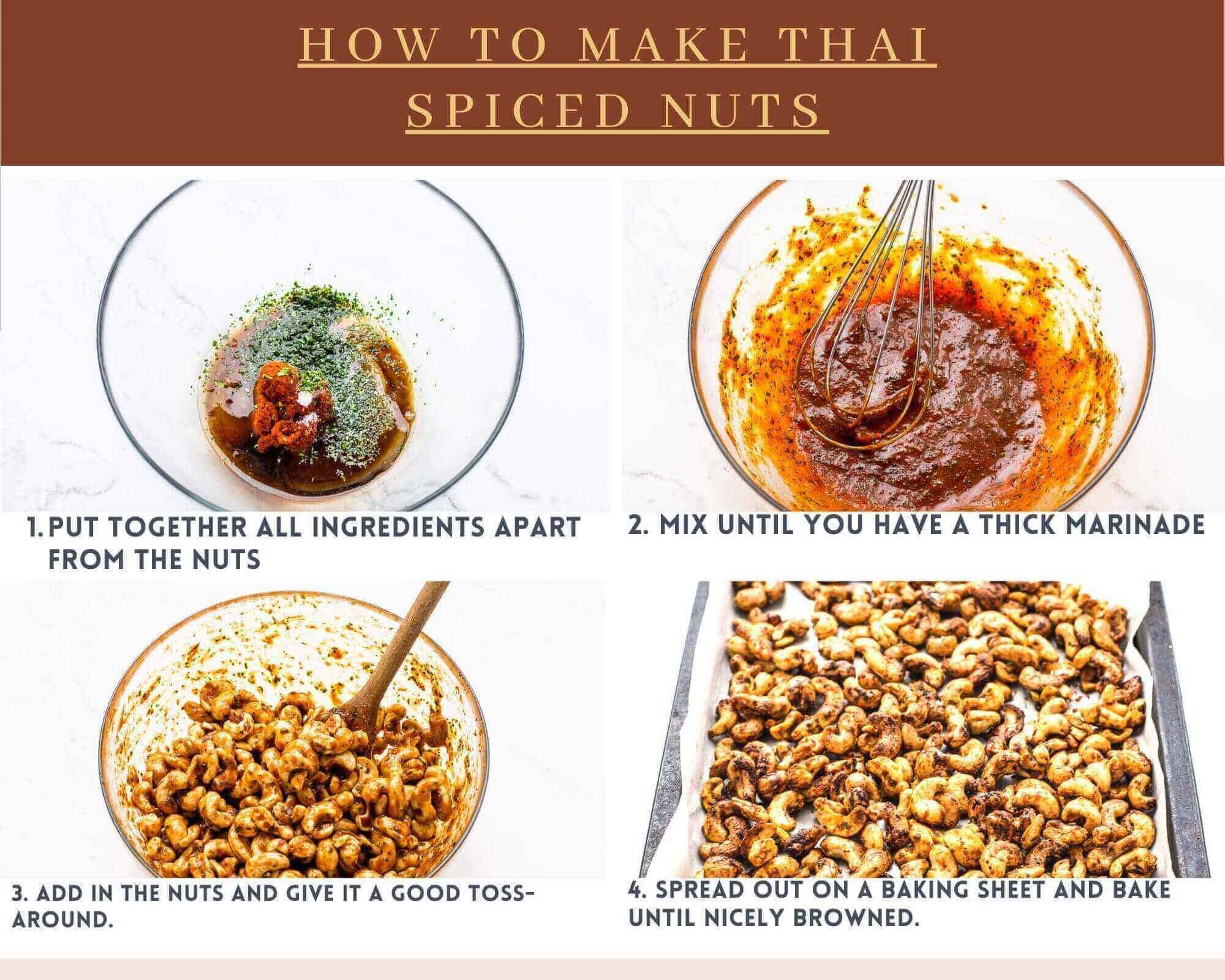 how to make Thai spiced nuts