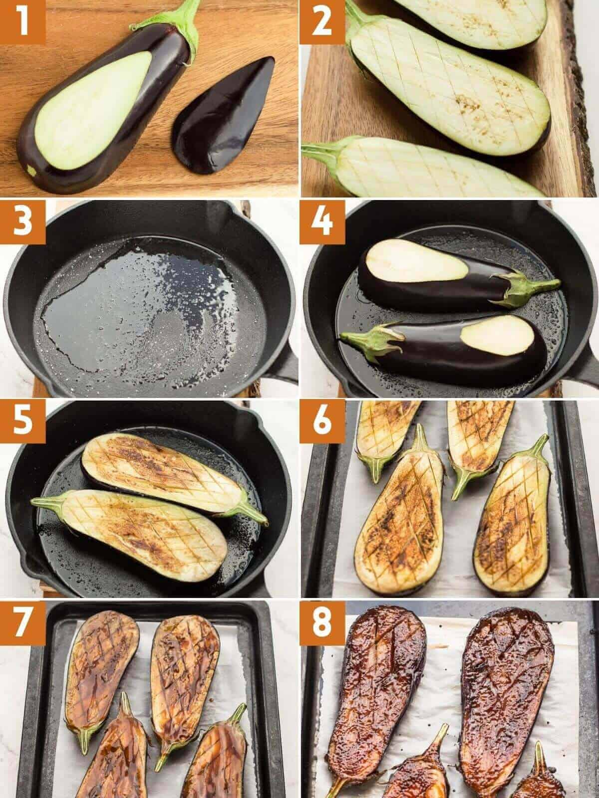 cooking eggplant picture step instructions.