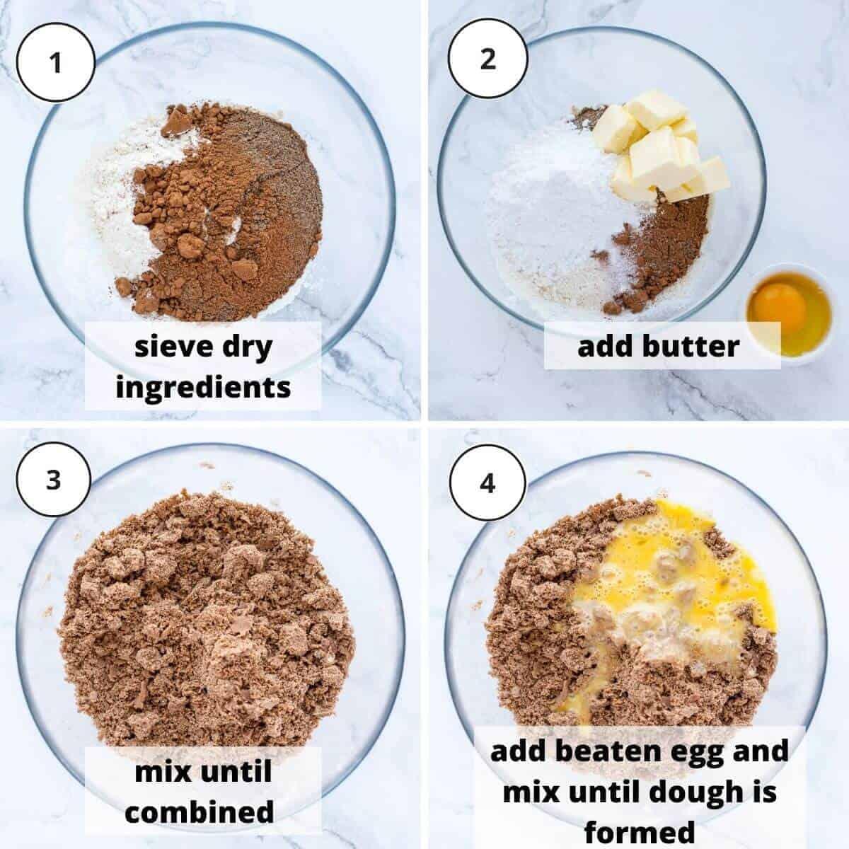 steps to make tart pastry.