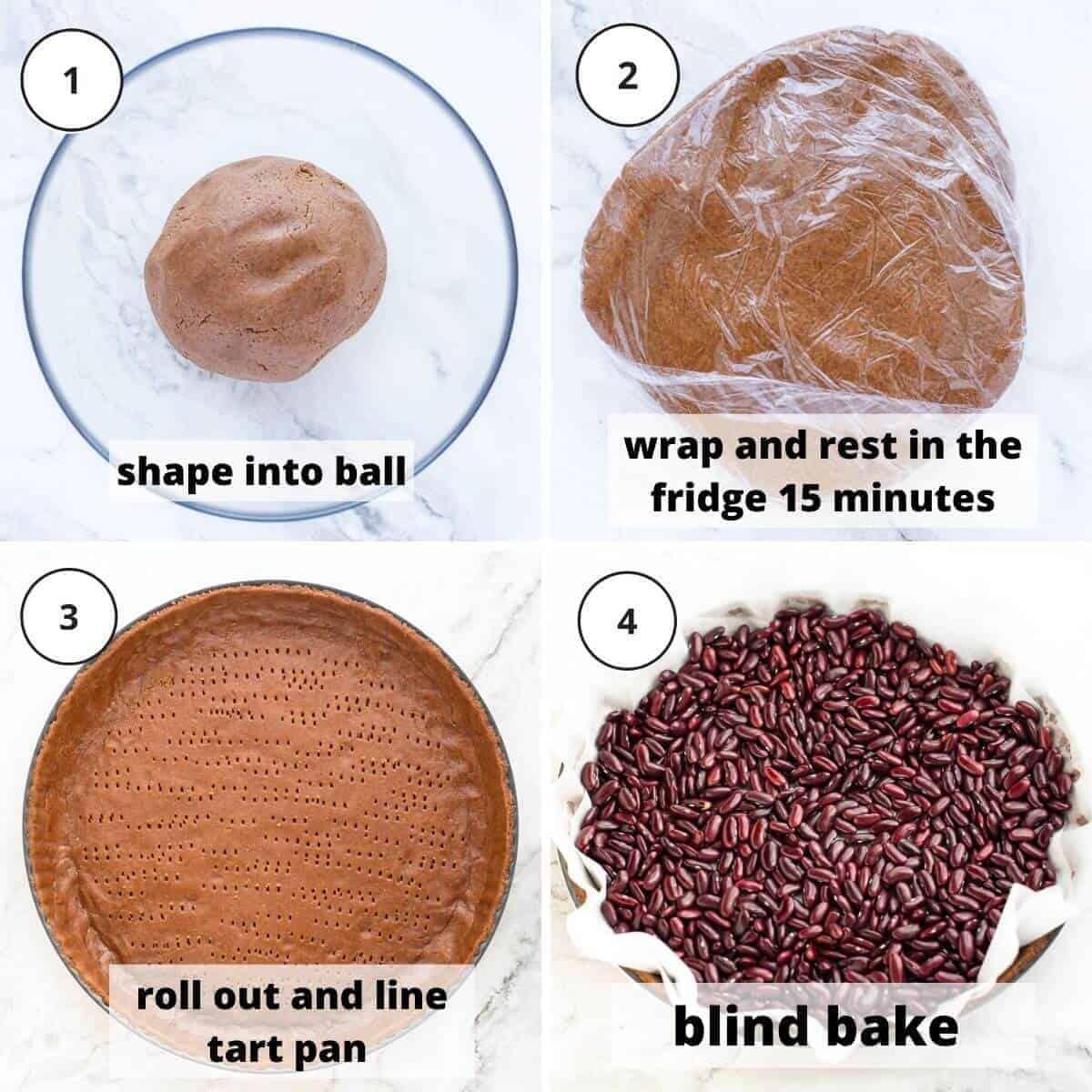 steps to bake tart pastry.