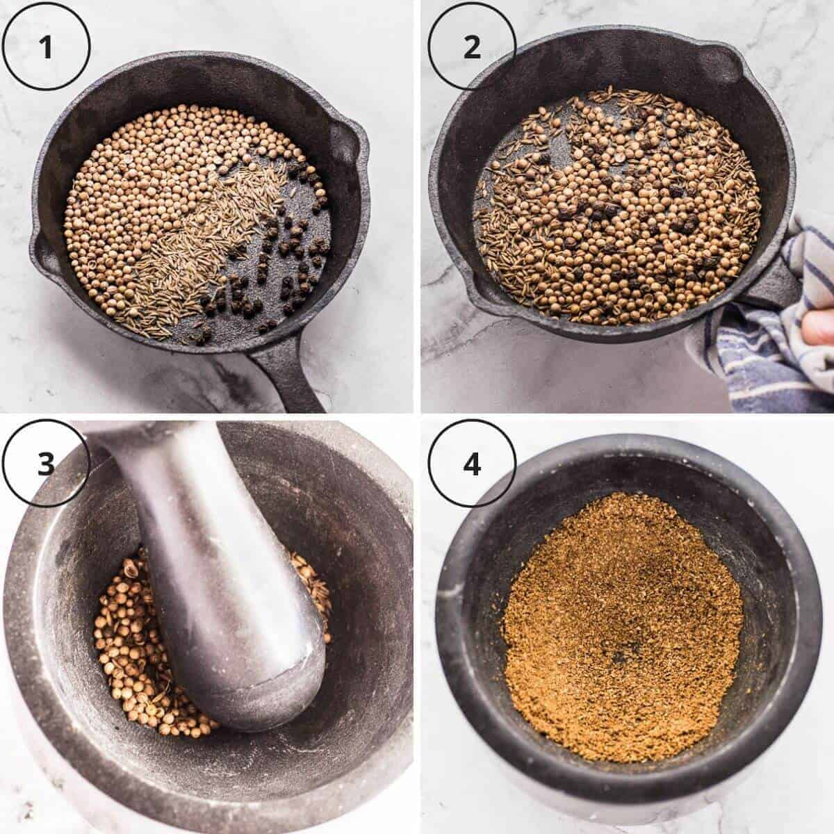 Roasting and grinding your own spices