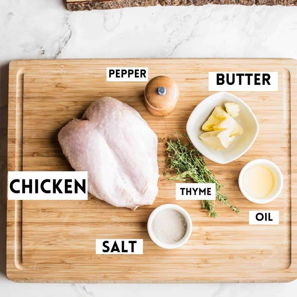 Ingredients needed to cook chicken