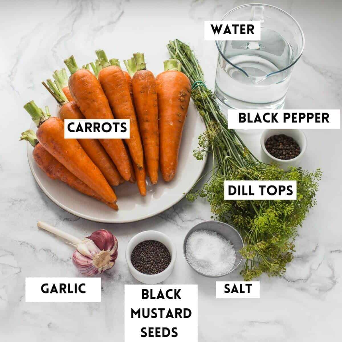 ingredients needed to ferment carrots
