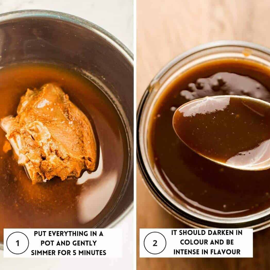 two steps to making den miso