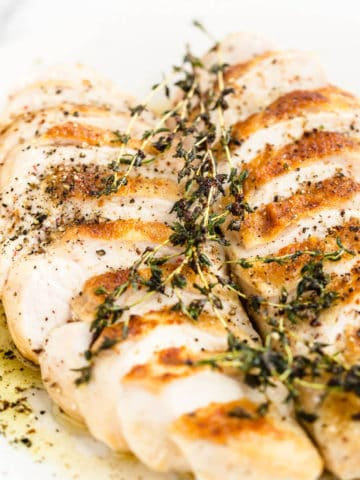 oven roasted chicken breast with thyme butter