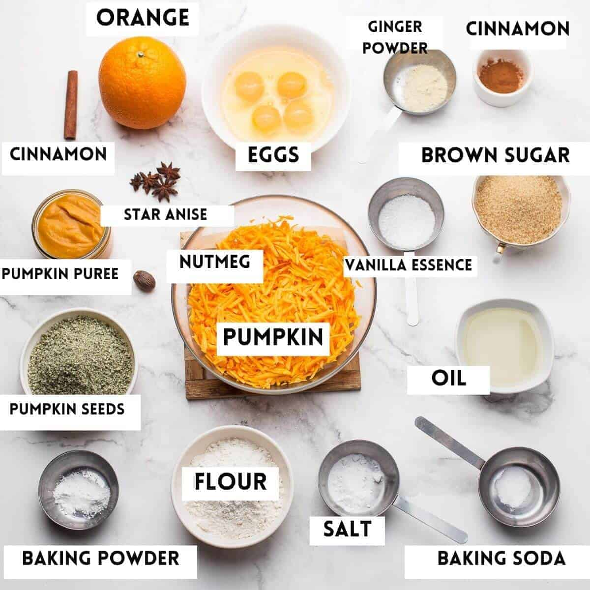 ingredients needed to cook the cake