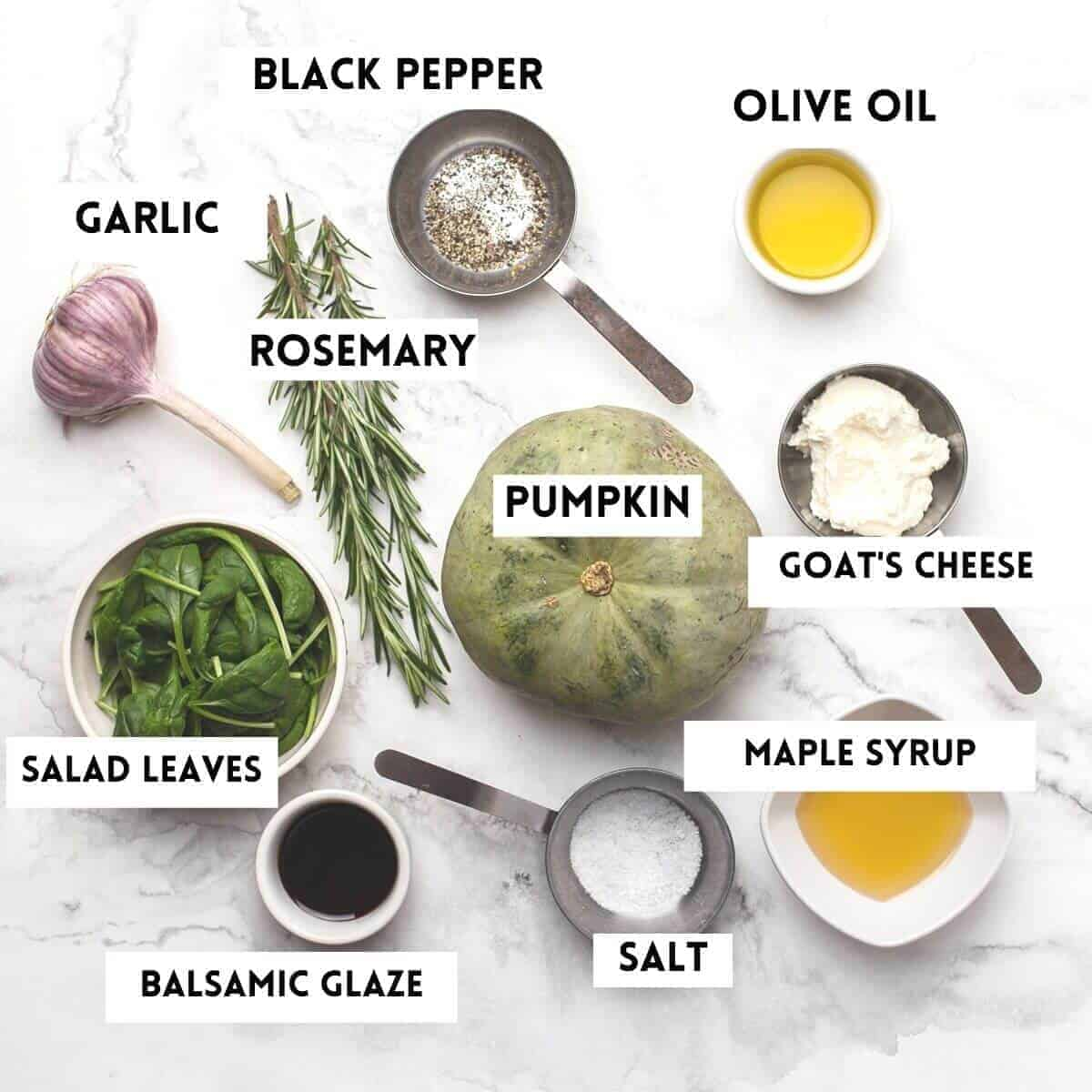 ingredients for making pumpkin salad