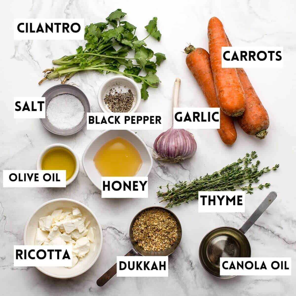 ingredients needed to make this recipe on marble backround
