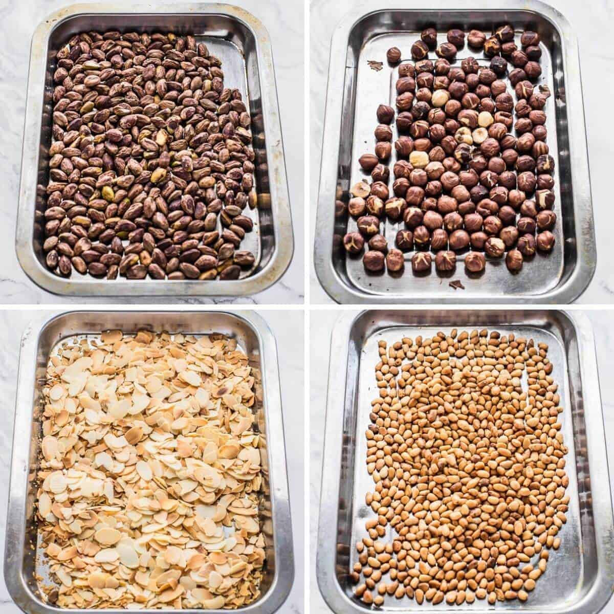 variety of roasted nuts used in the recipe