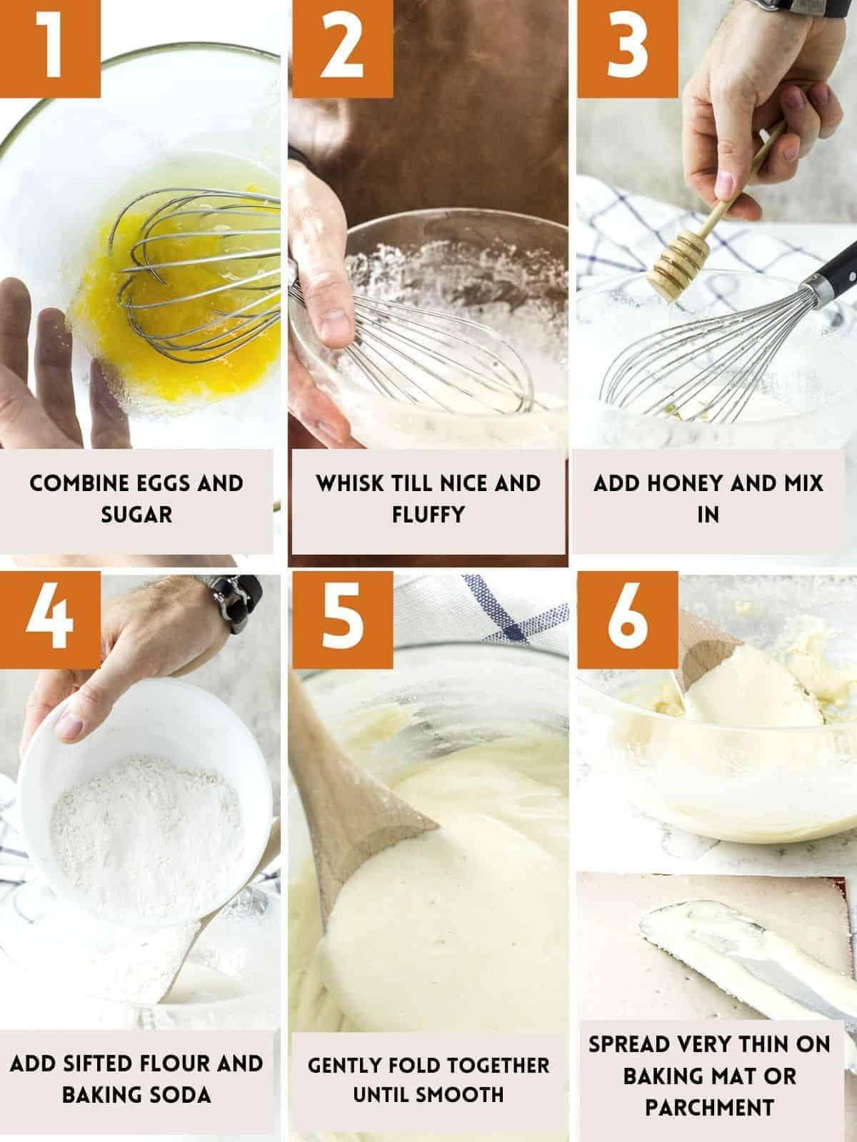 Russian honey cake batter making instructions