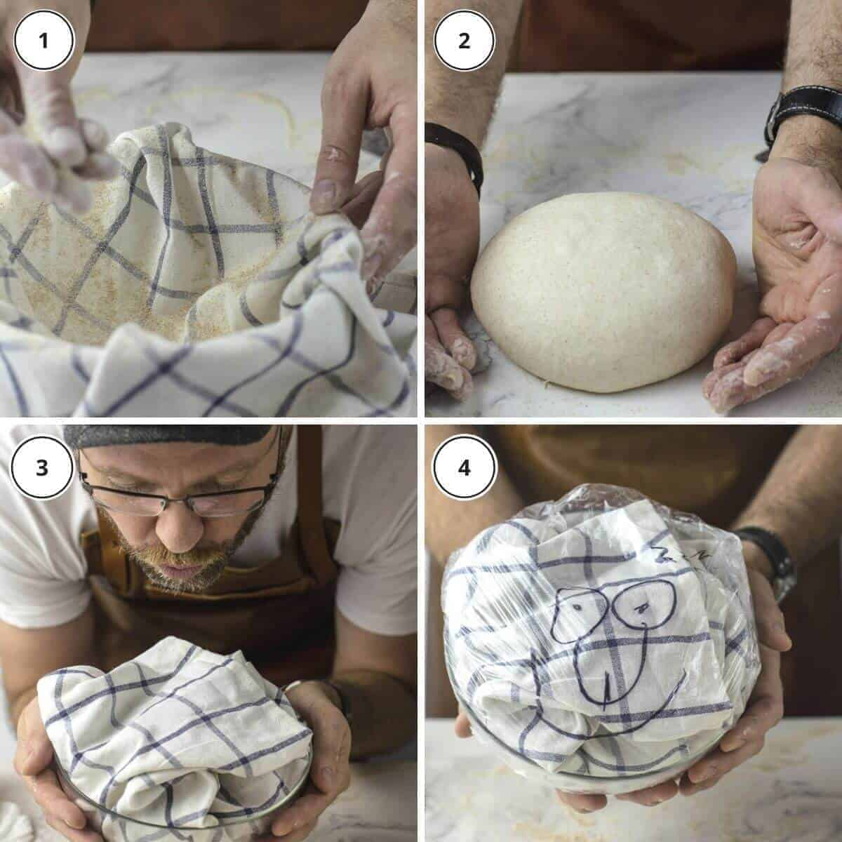 dough wrapping for long fermentation