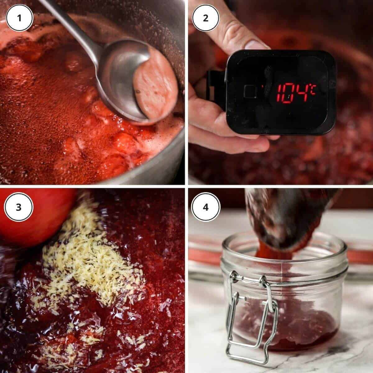 step by step cooking instructions of written steps