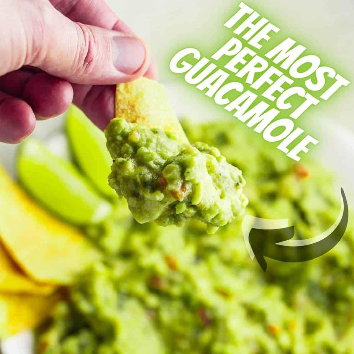 Perfect guacamole closeup